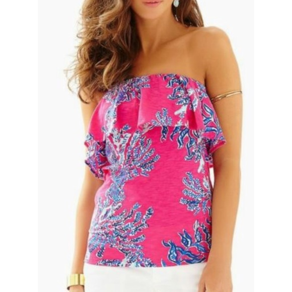 2ad2b3ae20f NWT Lilly Pulitzer Wiley Tube top.